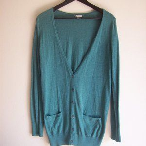 BP Green Cardigan Sweater Sz - M